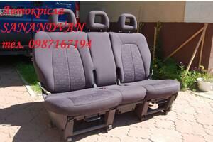 Заднє тройне сидіння трансформер 2+1 для Fiat Doblo