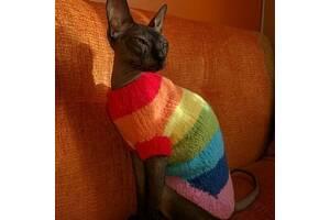 Вязаная одежда для кошек и собак)