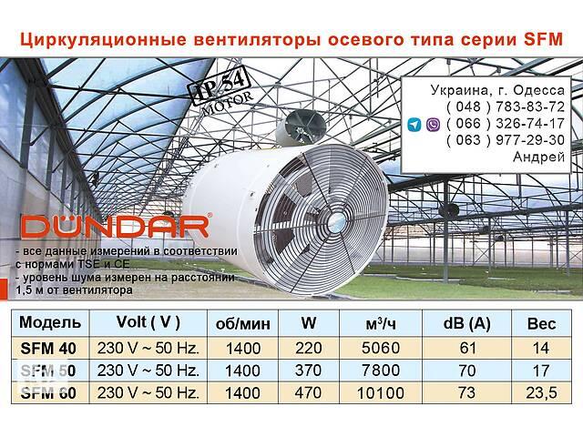 купить бу Циркуляційні вентилятори DUNDAR осьового типу серії SFM в Одесі