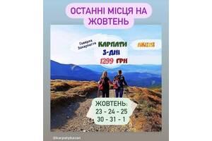 Відпочинок в Карпатах та Закарпатті (триденний тур)