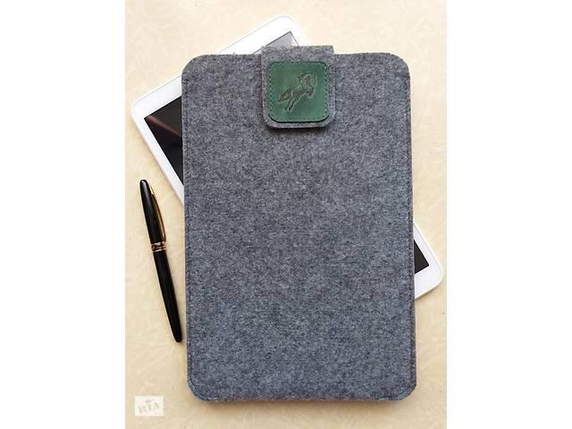 """Чехол из войлока и кожи для Apple iPad 9.7"""", светло-серый.- объявление о продаже  в Одессе"""