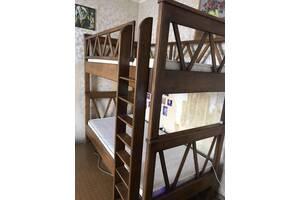Двухъярусная качественная кровать из дуба