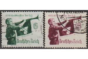 1935 - Рейх - Гитлер-югенд Mi.584 y - 585 y _15,0 EU