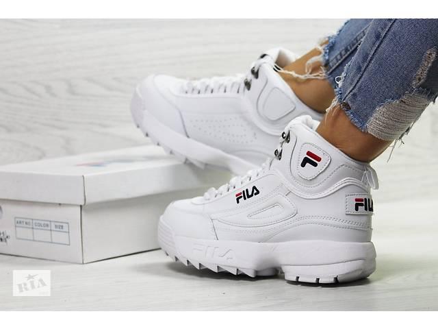 купить бу Жіночі Кросівки FILA Disruptor 2 шкіряні білі з коробкою в Херсоні 6d96961de965b