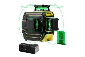 3D лазерный уровень FIRECORE F94T-XG 12 зелёных линий нивелир  диоды Sharp 30 mW