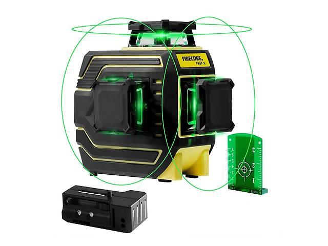 купить бу 3D лазерный уровень FIRECORE F94T-XG 12 зелёных линий нивелир  диоды Sharp 30 mW в Луцке