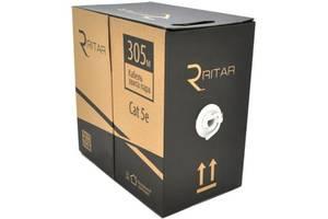 Кабель сетевой Ritar FTP 305м КНПЭп 4p 24AWG [СCA] внешний, проволока, катушка (11830)
