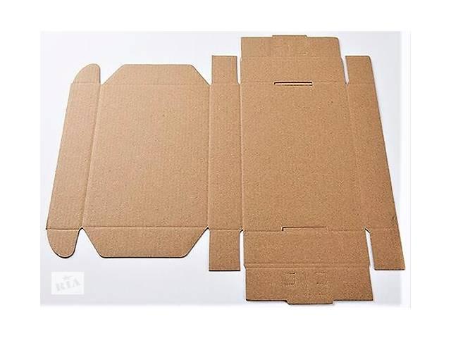 Картонна коробка 320×220×75мм бура самозбірна- объявление о продаже  в Києві