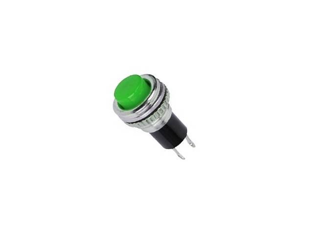 Кнопка нажимная DS-316, OFF-(ON), 0,5А, зеленый
