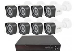 Комплект видеонаблюдения беспроводной UKC D001-8CH Full HD набор на 8 камер 5690
