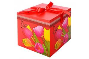 Коробка подарочная Stenson Тюльпаны N-00384 222222 см