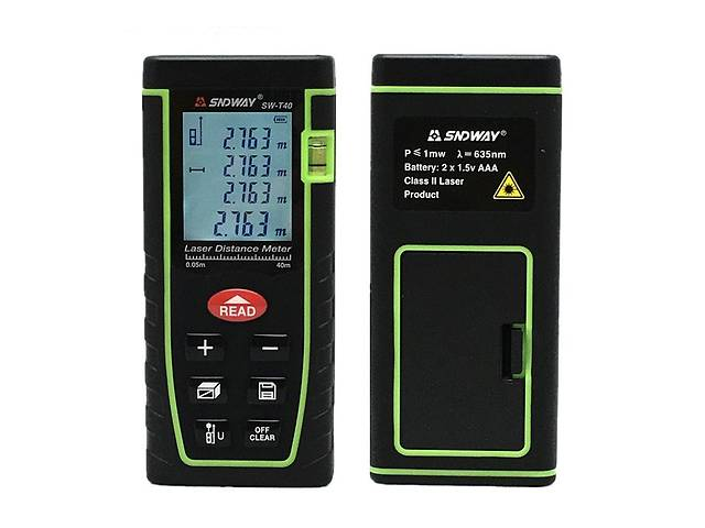 купить бу Лазерный дальномер SNDWay Sw-T40 рулетка до 40м (bks_01497) в Киеве