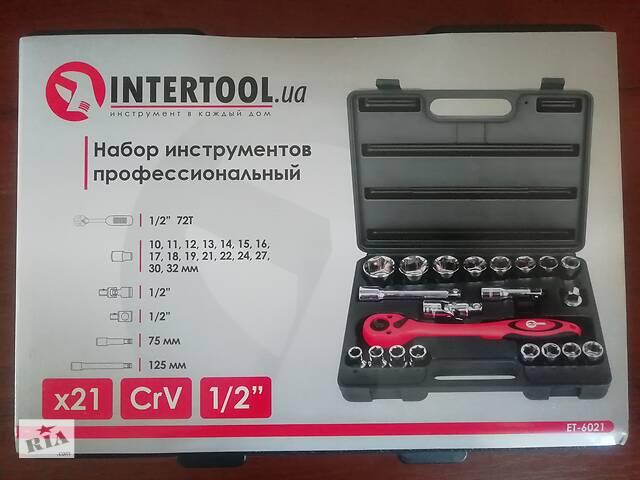 """продам Набір інструментів професійний, 1/2"""", 21 од. CrV INTERTOOL ET-6021 бу в Львове"""