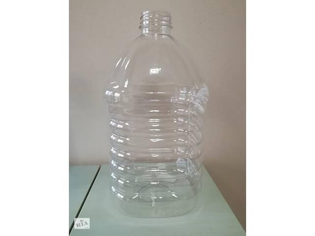купить бу ПЕТ пляшка ємністю 5 літрів,  прозора, в комплекті з ручкою та кришкою. в Хмельницькому