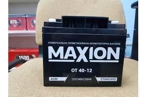 Промисловий акумулятор Maxion OT 40-12 AGM R+ 40Ah 12V
