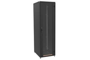 """Шкаф ZPAS 19"""" 18U 600x800, стекл.дверь WZ-IT-186080-69AA-2-161-FP, черный"""