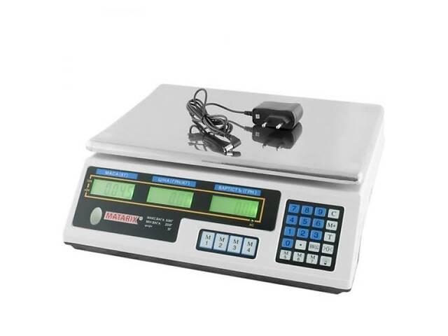 купить бу Торговые электронные товарные весы для рынка MATRIX MX-410B до 50кг настольные базарные в Харькове