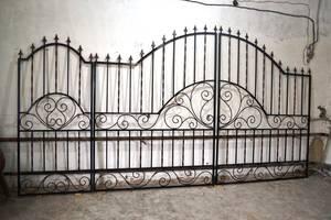 ВОРОТА! Металлические распашные сварные ворота с калиткой. Доставка по Украине!