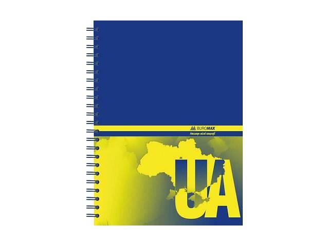 купить бу Блокнот BUROMAX spiral side, А5, 96sheets, UKRAINE (assorted) (BM.2412) в Харькове