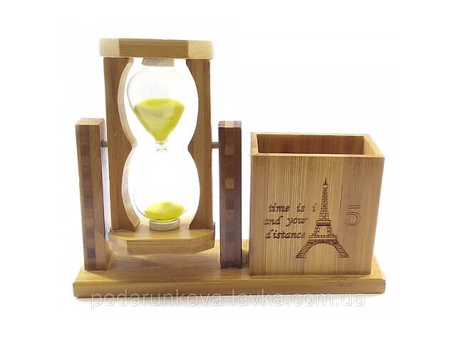 Часы песочные с подставкой для ручек желтый песок 19х15х5,5 см 32235B- объявление о продаже  в Киеве