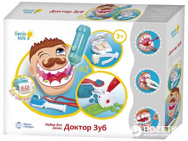 продам Детский набор длялепки Genio Kids Доктор Зуб, с аксессуарами бу в Киеве