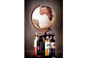 Глобус 320 мм подставка для вина поворотная античный (рус.) BST 540176