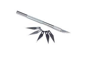 Канцелярский скальпель, нож с 5 сменными лезвиями