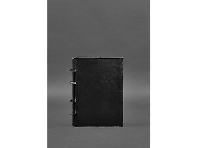 продам Кожаный блокнот на кольцах  9.0 с твердой угольно-черной обложкой BlnkntBN-SB-9-hard-ygol бу в Киеве