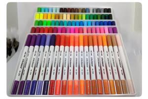 Набор арт-маркеров BORRENCE DUAL TIP Brush Pens 100 цветов
