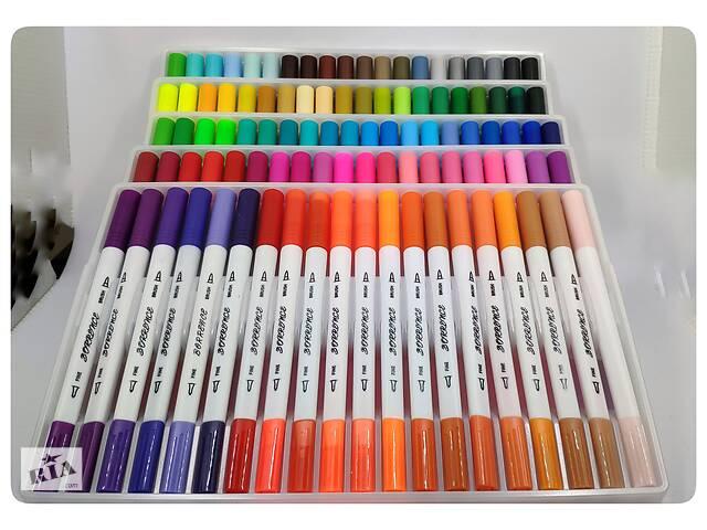 продам Набор арт-маркеров BORRENCE DUAL TIP Brush Pens 100 цветов  бу в Харькове
