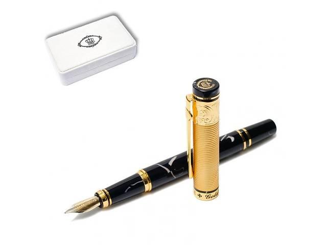 Ручка перьевая подарочная в футляре  Duke GM14K-BL 137 мм чёрно-золотая ЗОЛОТАЯ МЕДАЛЬ- объявление о продаже  в Дубно