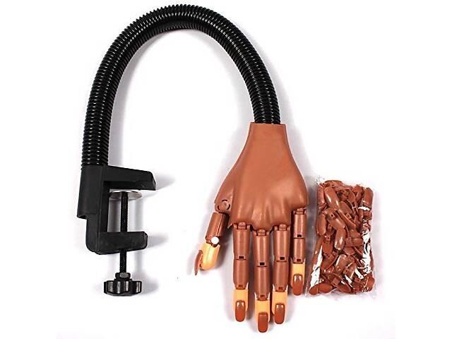 Тренировочная рука для обучения маникюра на штативе Hand Nail Коричневый (110166)- объявление о продаже  в Одессе