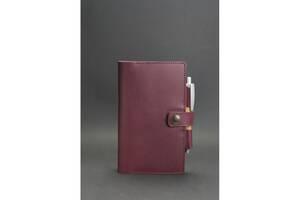 Женский кожаный  блокнот (Софт-бук) 4.0 бордовый BlnkntBN-SB-4-vin