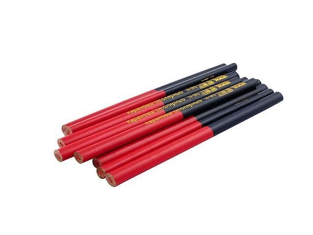 бу Карандаш Mastertool - столярный 176 мм (12 шт.) красно-черный Art. big--687223216 в Киеве