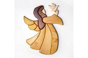Ангел с птицей Мастерская мистера Томаса 42х33см Ольха