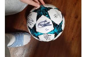 Ball with authographs of Dinamo Kiev footballplayers
