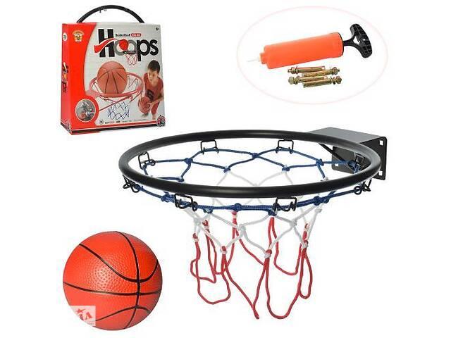 бу Баскетбольное металлическое кольцо с сеткой для ребенка M 5966 с мячом и насосом в комплекте (диаметр 39 см) в Львове