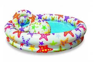 """Детский надувной бассейн Intex 59460 NP """"Звёзды"""" с надувным кругом и мячом, размер 122*25 см"""