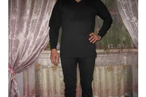 Белье нательное мужское утепленное, 100% хлопок, пр-во Узбекистан, размер 54-56 темно-синее