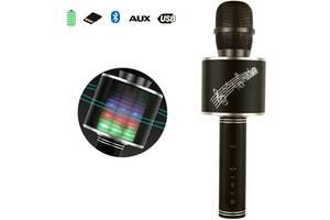 Беспроводной Bluetooth микрофон с колонкой 2в1 Karaoke YS-66 с функцией ЭХО смены голоса фонограммой и  disco подсвет...