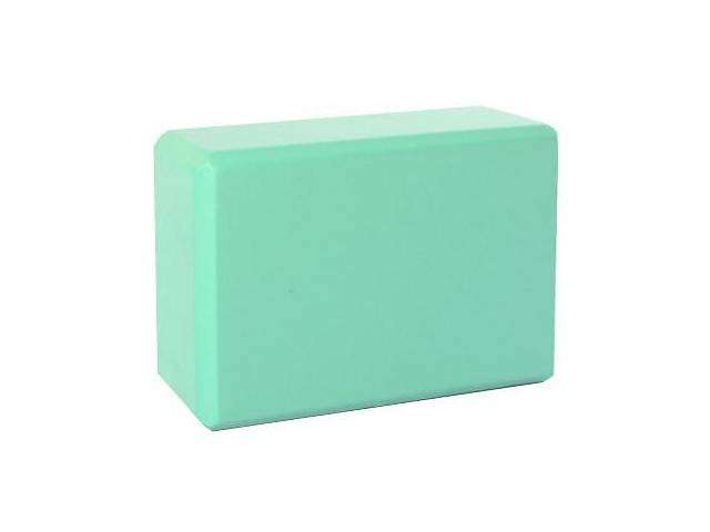 Блок для занятий йогой Metr+ 23х15,5х7,5 см., бирюзовый