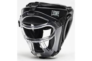 Боксерский шлем Leone Plastic Pad Black (500123) XS/S