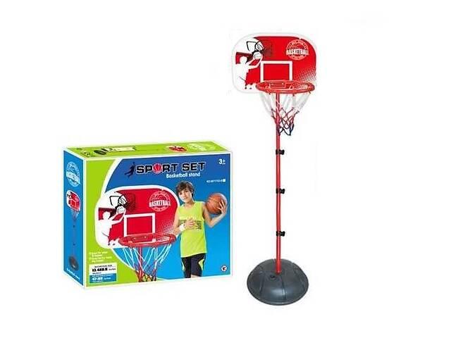 Детское баскетбольное кольцо на стойке MY 1703 B (высота 120-150 см) с щитом и сеткой в комплекте насос- объявление о продаже  в Львове