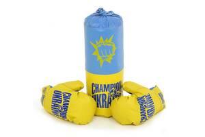Детский боксерский набор подвесной груша и перчатки Danko Toys БОЛ Украина. Спортивные подарки для детей