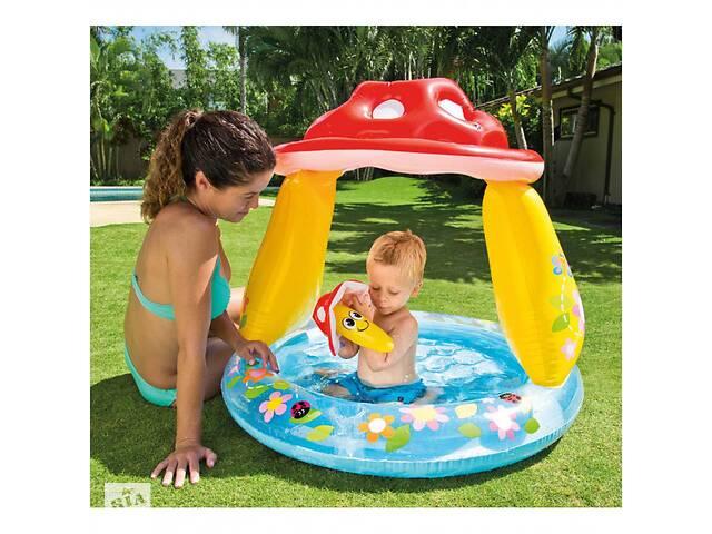 продам Детский надувной бассейн Intex 57114 с навесом, грибочек бу в Одессе
