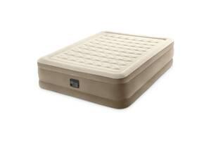 Двухместная надувная кровать-матрас со встроенным насосом Intex 64428, (размер 203х152х46 см), цвет бежевый
