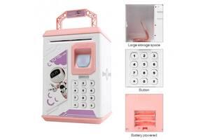 Электронная копилка с кодовым замком и сканером отпечатка Robot Bodyguard ART-906 P Розовая (par_SAVE PINK 906 P)