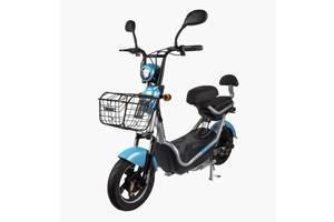 Электрический Скутер CITY 350W/48V Новый Серо-Голубой