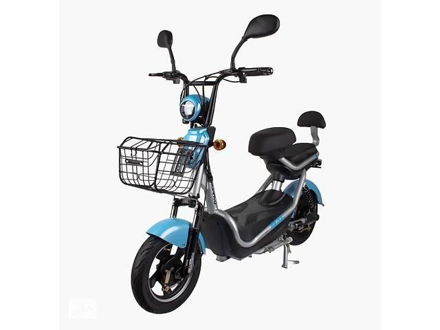 бу Электрический Скутер CITY 350W/48V Новый Серо-Голубой в Сумах