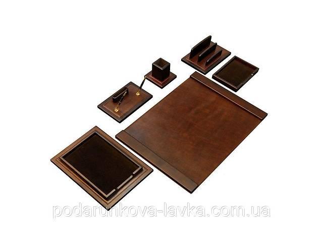 купить бу Элитный настольный набор для руководителя V.I.P. MARRON 760007 70*50 см коричневый в Киеве